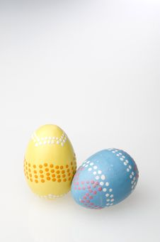 Free Colorful Easter Eggs Hand Painted Stock Image - 4414861