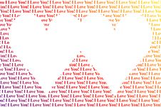 Free Hearts Shaped Words I Love You Stock Photo - 4415130