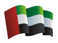 Free United Arab Emirates Flag Stock Photography - 4415422