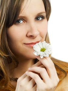 Free Girl With Flower Stock Photo - 4415820