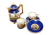 China Porcelain Saucer. Stock Photos