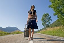 Free Woman Leaving On A Journey Stock Image - 4416291