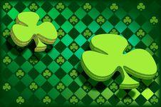 Free Floating Irish Clovers Royalty Free Stock Photos - 4417098