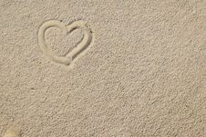 Free Sand And Hearts Stock Image - 4417261