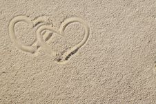 Free Hearts And Sand Royalty Free Stock Photos - 4417468