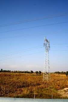 Free Suburb High-voltage Tower Royalty Free Stock Photos - 4417958