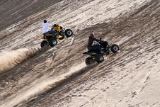 Racing On The Sand Mountain Royalty Free Stock Photography