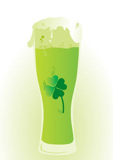 Green Beer. Royalty Free Stock Images