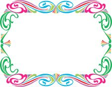 Free Colorful Frame Royalty Free Stock Photography - 44121277