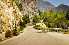 Free Mountain Road In Greece Royalty Free Stock Images - 44123199