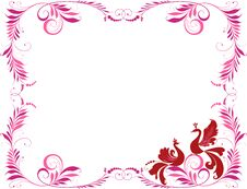 Free Decorative Frame With Two Birds Royalty Free Stock Photos - 44148468