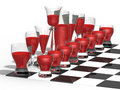 Free Chess From Glasses Royalty Free Stock Images - 4420819