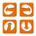 Free Arrows Orange Royalty Free Stock Images - 4426089