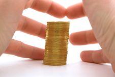 Greed To Money. Isolated 1 Stock Image