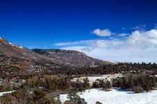 Colorado Plateau Mountains In Snow Stock Photography