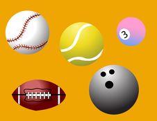 Free Vector Sport Balls Stock Image - 4420361