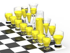 Free Chess From Glasses Royalty Free Stock Image - 4420706