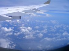Free Wing Above Clouds Royalty Free Stock Photography - 4420957
