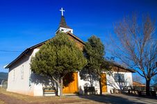 Old Spanish Mission Church In New Mexico Stock Photo