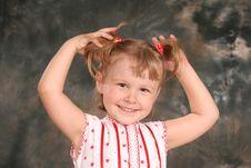 Free Child Keeps Hairs Royalty Free Stock Photo - 4421165