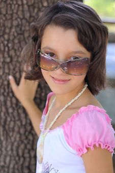 Free Young Girl With Sunglasses Royalty Free Stock Photo - 4421575