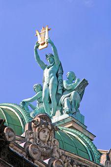 France, Paris: Statue Of Opera Garnier Stock Image
