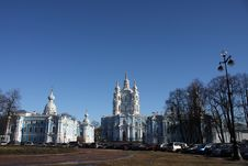 Smolny A Cathedral In St.-Petersburg Stock Photo