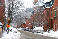 Free Boston Winter Stock Photo - 4423390