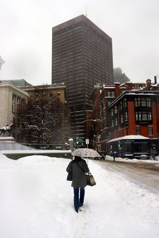 Free Boston Winter Stock Photo - 4423560