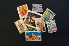 Assorted Postal Stamp Royalty Free Stock Image