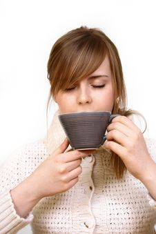 Free Woman Holding A Cup Stock Images - 4424794