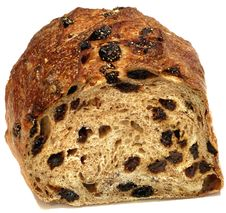Cut Raisin Bread Stock Photos