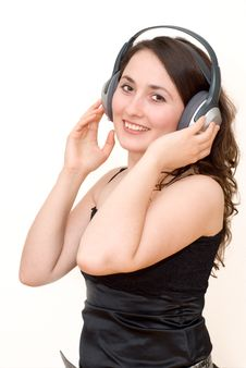 Free Young Woman Listening Music Stock Photo - 4425540