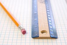 Free Ruler And Pencil Stock Images - 4425824
