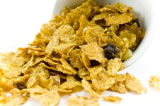 Free Cornflakes From The Bowl Stock Photo - 4426210