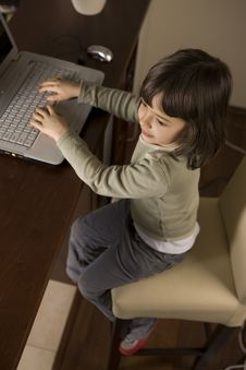 Free Computer Kid Stock Photo - 4426230