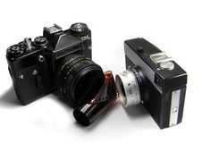 Classic Cameras Isolated Royalty Free Stock Photos