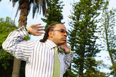 Businessman Stretching Stock Images
