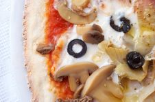Closeup Of Italian Pizza Royalty Free Stock Images