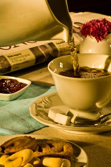 Free Tea In The Morning Stock Image - 4428201
