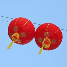 Free Paper Chinese Lanterns Royalty Free Stock Images - 4428499