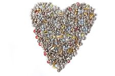 Free Heart Made From Different Screws Royalty Free Stock Image - 4428586