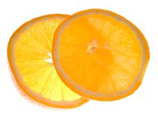 Free Two Slices Of Orange Stock Photos - 4429103