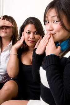 Free Hear No Evil, Speak No Evil, See No Evil Stock Photos - 4429213