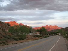 Free Zion Sunset Royalty Free Stock Images - 4429549