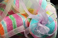 Free Easter Eggs-Sparkles And Ribbon Royalty Free Stock Images - 4429579