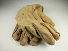 Free Leather Work Gloves Stock Image - 4429691