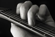Free Guitar Chord Royalty Free Stock Photography - 4429827