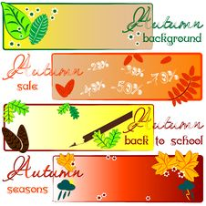 Free Autumn Labels With Fields For Text Stock Images - 44238074