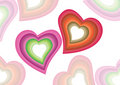Free Colorful Hearts Background Royalty Free Stock Image - 4430696